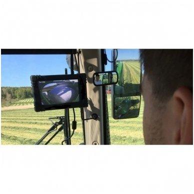 Belaidė 7 colių monitoriaus ir galinio vaizdo kameros sistema 12V/24V 12