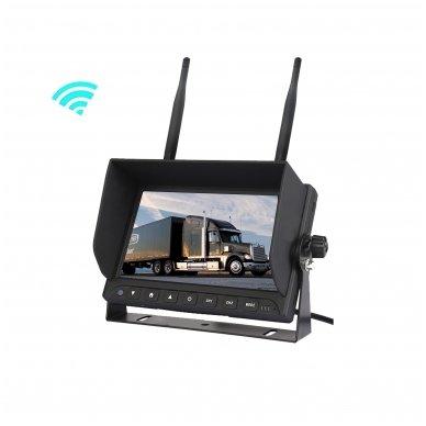 Belaidė 7 colių monitoriaus ir galinio vaizdo kameros sistema 12V/24V 8