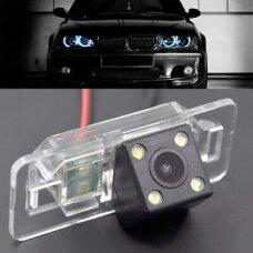 BMW 1/ 3/ 5/ X - serijos galinio vaizdo kamera numerio apšvietimas su atstumo rėmeliu NTSC