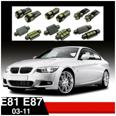 BMW 1 E81 E87 LED salono apšvietimo lempučių komplektas