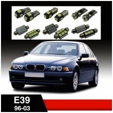 BMW 3 E39 LED salono apšvietimo lempučių komplektas