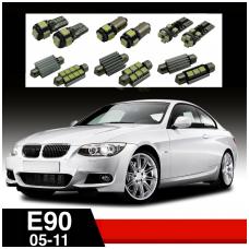 BMW 3 E90 LED salono apšvietimo lempučių komplektas