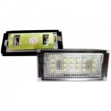 BMW E46-Fafelift 2D (04-06), E46-M (04-06) E4 numerio apšvietimo lemputės x2vnt. 18 SMD 3w 6000k