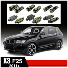 BMW X3 F25 LED salono apšvietimo lempučių komplektas