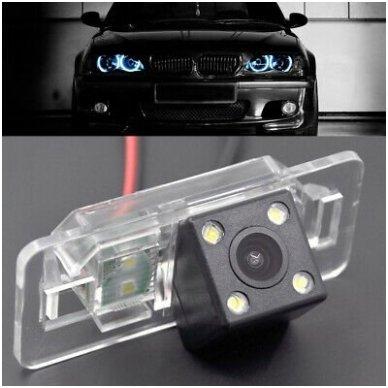 BMW 1/ 3/ 5/ X - serijos galinio vaizdo kamera numerio apšvietimas su atstumo rėmeliu