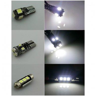 BMW 3 E46 LED salono apšvietimo lempučių komplektas 4