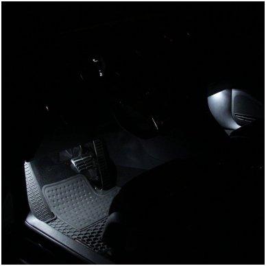 BMW 3 E46 LED salono apšvietimo lempučių komplektas 9