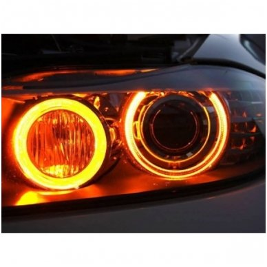 BMW Amber Eyes 12W led markeriai CAN BUS - 5 e39/ x5 e53/5 e60/ 5 touring e61/ 6 e63/ 6 e64/ 7 e65/ 7 e66/ x3 e83/ 1 e87 / 2