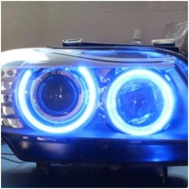 BMW Angel Eyes 12W led markeriai CAN BUS mėlyna- 5 e39/ x5 e53/5 e60/ 5 touring e61/ 6 e63/ 6 e64/ 7 e65/ 7 e66/ x3 e83/ 1 e87 / 2