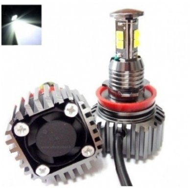 BMW Angel Eyes H8 128W CREE SUPER LED Marker'iai CAN BUS - 1/E87, 1/E82 Coupe, 3/E90, 3/E92 Coupe, 3/E90 M3, 3/E92 M3, 3/E93, 5/E60, 7/F01/F02, E70 X5, E71 X6, E89 Z4