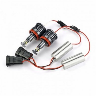 BMW Angel Eyes H8 40W CREE LED markeriai CAN BUS - 1/E87, 1/E82 Coupe, 3/E90, 3/E92 Coupe, 3/E90 M3, 3/E92 M3, 3/E93, 5/E60, 7/F01/F02, E70 X5, E71 X6, E89 Z4 3