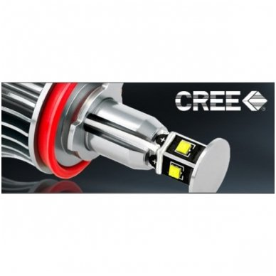 BMW Angel Eyes H8 40W CREE LED markeriai CAN BUS - 1/E87, 1/E82 Coupe, 3/E90, 3/E92 Coupe, 3/E90 M3, 3/E92 M3, 3/E93, 5/E60, 7/F01/F02, E70 X5, E71 X6, E89 Z4 4