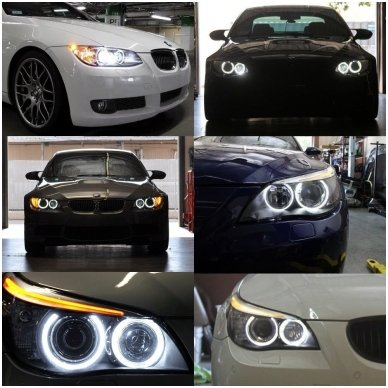 BMW Angel Eyes led markeriai 28W CAN BUS - 3 e90/e91 LCI 13