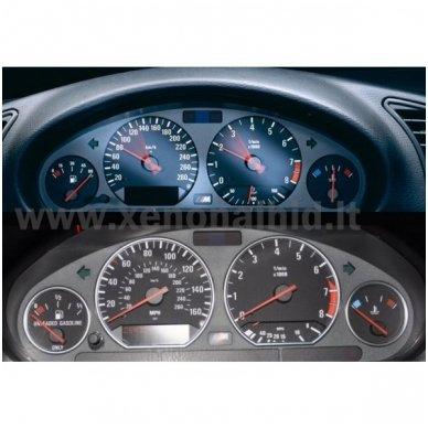 BMW CHROME e38, e39, e53 M stiliaus spidometro žiedai 7