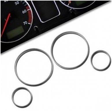 BMW CHROME e38, e39, e53 M stiliaus spidometro žiedai