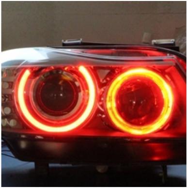 BMW Demon Eyes 12W led markeriai CAN BUS raudoni - 5 e39/ x5 e53/5 e60/ 5 touring e61/ 6 e63/ 6 e64/ 7 e65/ 7 e66/ x3 e83/ 1 e87 / 2