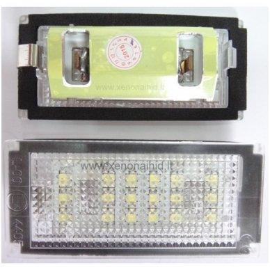 BMW E46-Fafelift 2D (04-06), E46-M (04-06) E4 numerio apšvietimo lemputės x2vnt. 18 SMD 3w 6000k 2