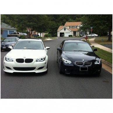 LED 72 SMD Angel Eyes balti šviesos žiedai BMW E60 iki LCI 4