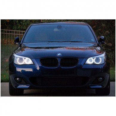 LED 72 SMD Angel Eyes balti šviesos žiedai BMW E60 iki LCI 5