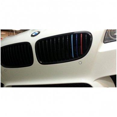 BMW M-Tech grotelių lipdukas ilgis 20cm, plotis 0,5cm 6