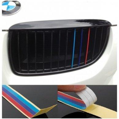 BMW M-Tech grotelių lipdukas ilgis 20cm, plotis 0,5cm