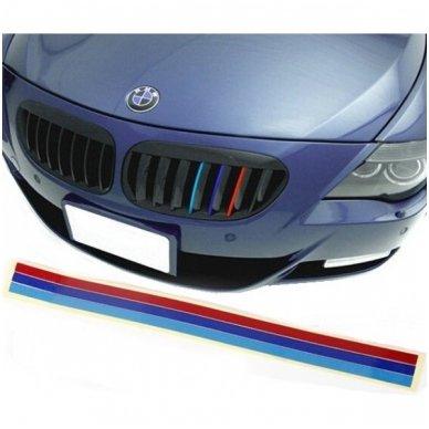 BMW M-Tech grotelių lipdukas ilgis 25cm, plotis 0,7cm 5