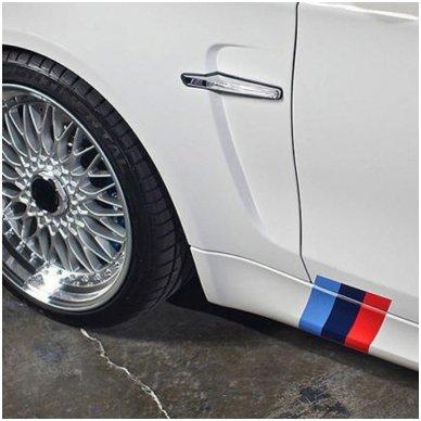 BMW M-Tech grotelių lipdukas ilgis 25cm, plotis 5cm 3