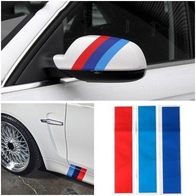 BMW M-Tech grotelių lipdukas ilgis 25cm, plotis 5cm 2