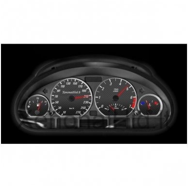 BMW MATINIAI 3 e46 M stiliaus spidometro žiedai 4