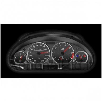 BMW MATINIAI 3 e46 M stiliaus spidometro žiedai 6