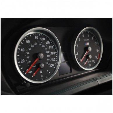 BMW MATINIAI 5 e60, e61 M stiliaus spidometro žiedai 4
