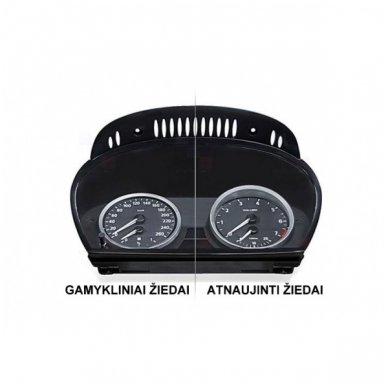 BMW MATINIAI 5 e60, e61 M stiliaus spidometro žiedai 6