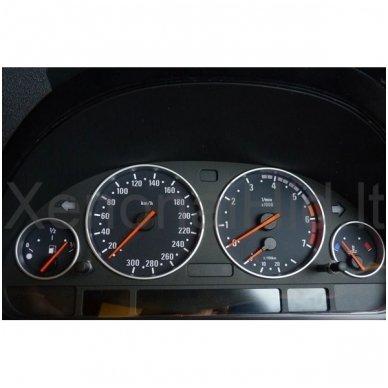 BMW MATINIAI e38, e39, e53 M stiliaus spidometro žiedai 5