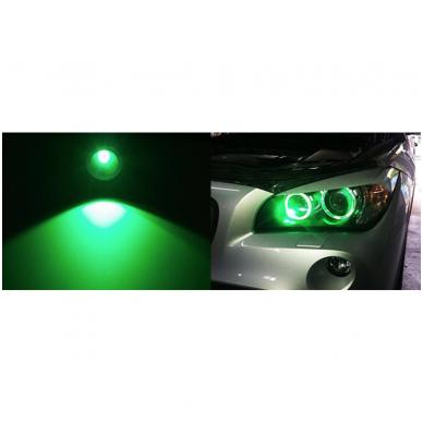 BMW Monster Eyes 12W led markeriai CAN BUS žali - 5 e39/ x5 e53/5 e60/ 5 touring e61/ 6 e63/ 6 e64/ 7 e65/ 7 e66/ x3 e83/ 1 e87 / 3
