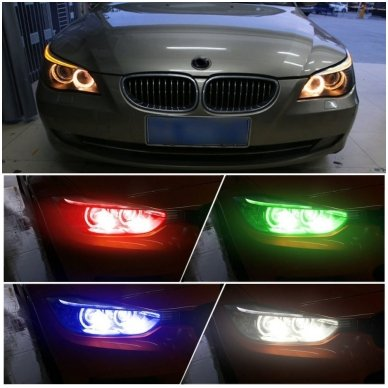 BMW Monster Eyes 12W led markeriai CAN BUS žali - 5 e39/ x5 e53/5 e60/ 5 touring e61/ 6 e63/ 6 e64/ 7 e65/ 7 e66/ x3 e83/ 1 e87 / 4