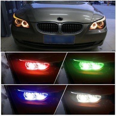BMW Monster Eyes 12W led markeriai CAN BUS žali - 5 e39/ x5 e53/5 e60/ 5 touring e61/ 6 e63/ 6 e64/ 7 e65/ 7 e66/ x3 e83/ 1 e87 / 4