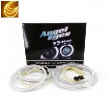 CCFL Amber Eyes geltoni šviesos žiedai E46 be lešio / E46 4/5 durys facelift su lešiu