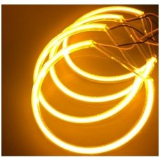 CCFL Amber Eyes geltoni šviesos žiedai E36; E38; E39; E46 su lešiu iki facelift; E46 cope 99-03 m