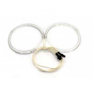 CCFL Amber Eyes geltoni šviesos žiedai E36; E38; E39; E46 su lešiu iki facelift; E46 cope 99-03 m 4
