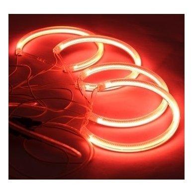 CCFL Demon Eyes raudoni šviesos žiedai BMW E46 Compact / E83 / E87 be lešio / E90 be lešio 3
