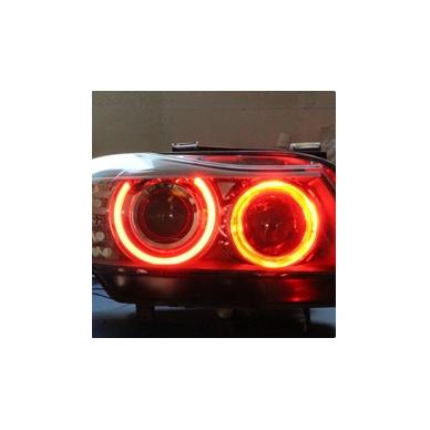 CCFL Demon Eyes raudoni šviesos žiedai BMW E46 Compact / E83 / E87 be lešio / E90 be lešio 4