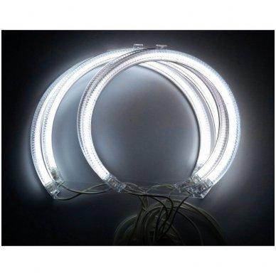 CCFL Angel Eyes balti šviesos žiedai E36 / E38 / E39 / E46 su lešiu iki facelift / E46 cuope 99-03 m. 9