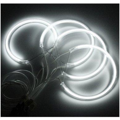 CCFL Angel Eyes balti šviesos žiedai E46 be lešio / E46 4/5 durys facelift su lešiu 3
