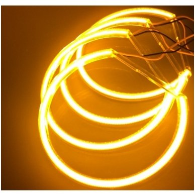 CCFL Amber Eyes geltoni šviesos žiedai E46 be lešio / E46 4/5 durys facelift su lešiu 3