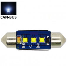 CREE LED C5W/F10 3LED CAN BUS lemputė 36mm