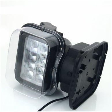 CREE LED 4D paieškos žibintas su nuotoliniu valdymu 50W, 10-60V, IP67, 4000LM 2