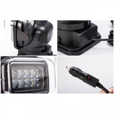 CREE LED 4D paieškos žibintas su nuotoliniu valdymu 50W, 10-60V, IP67, 4000LM 7