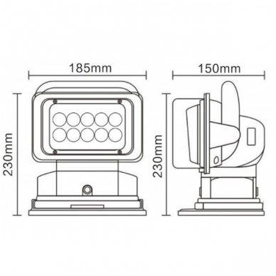 CREE LED 4D paieškos žibintas su nuotoliniu valdymu 50W, 10-60V, IP67, 4000LM 8
