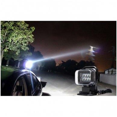 CREE LED 4D paieškos žibintas su nuotoliniu valdymu 50W, 10-60V, IP67, 4000LM 11