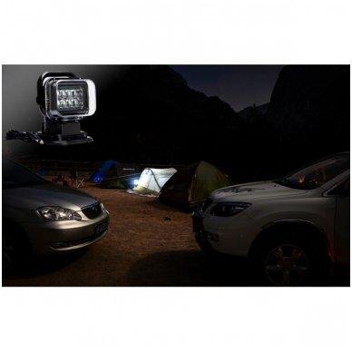 CREE LED 4D paieškos žibintas su nuotoliniu valdymu 50W, 10-60V, IP67, 4000LM 13